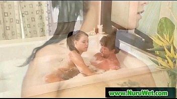 american man from massage getting asian Wanking off on her