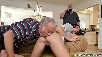 ebony old young Woman licks man ass and smells his farts