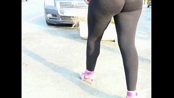 leggings3 spandex wetlook Twerk ebony black