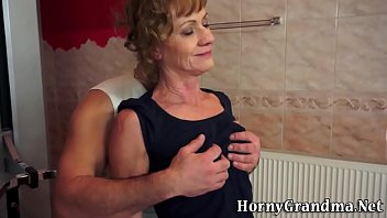 old pulls down lady pantyhose Super skinny whore gets huge cock