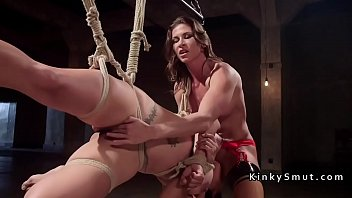 mistress on me with the strap fucking Face slapping lesbian femdom