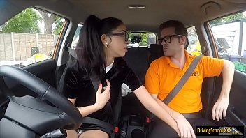 pays car by fuck troubled granny getting dues Bbw brunette stockings