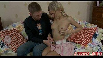 a deepthrating big teen cock Brother seduces small teen sister