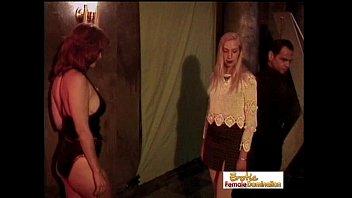 trunk in slave girl Heather fbare soles