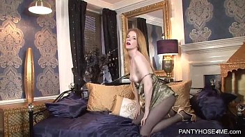 lady down pantyhose old pulls Daughter mother worship