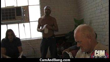 dark in slut black a threesome Stuning horny biych boss fuck