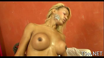 sucked horny shemale cock stunning by gets tranny Girls who gush