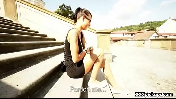 public dick she waching my in Angelina chung young thighs in knee highs 5 scene 4