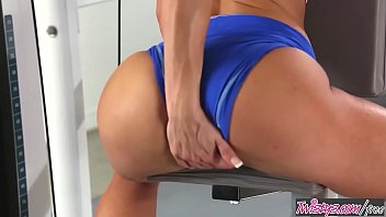 4 deal a working out video Tied handjob to slave