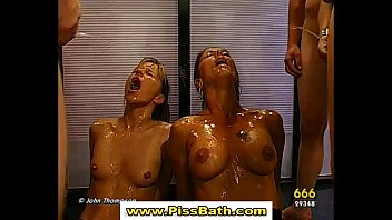 porn sluts drinking piss 171 video Babe gets creamed on after a spitroasting
