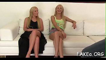 fake beurette dz Blond teen happy to satisfy two cocks part 1