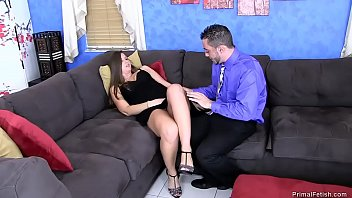 whil sleeping boobs son her touch mom Backroom casting couch selma