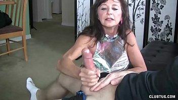 to offer fuck money Handjob loving milf working hard cock
