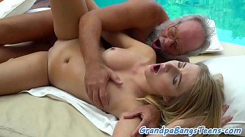 the embarrassment of grandpa Massage cock muscle